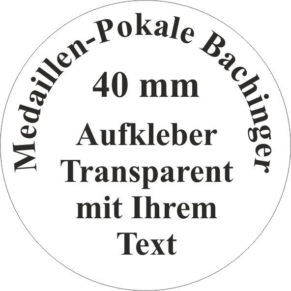 40mm Aufkleber Rund Transparent 24 Stück