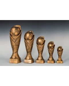 Fußballpokal ST39395-99 in 5 Höhen 17cm-22cm-27cm-33cm-39cm