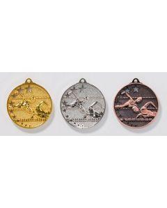 50mm Medaille Schwimmen 9224