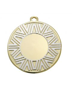 50mm Medaille DI5007 gold-weiss