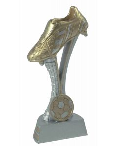 FG871-74 Fußballschuh Standtrophäe in 4 Höhen 15cm-17,5cm-20cm-25cm