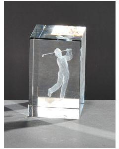 Kristallquader Golfer