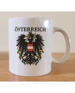Kaffeetasse Österreich Adler mit Text (ST35436)