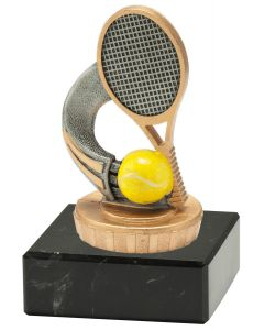 FX008 Tennis Standtrophäe Höhe 10cm mit Marmorsockel