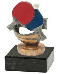 FX019 Tischtennis Standtrophäe Höhe 10cm mit Marmorsockel