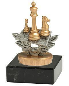 FX031 Schach Standtrophäe Höhe 9,5cm mit Marmorsockel