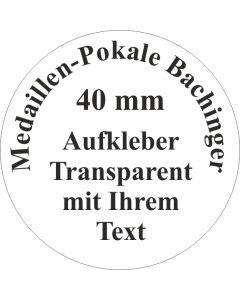 40mm Aufkleber rund transparent (24 Stück)