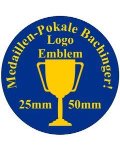 50mm PVC Emblem für 70mm Medaillen mit Logo