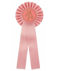 Pferdeschleife R100 rosa (48 Stück)