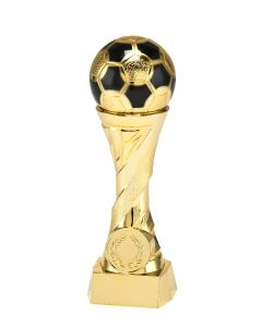 Fußballpokal X821 gold in 4 Höhen 16cm-19cm-23cm-27cm