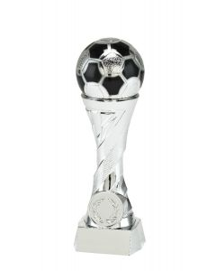 Fußballpokal X821 silber in 4 Höhen 16cm-19cm-23cm-27cm